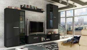 obývací stěna LEON - černý mat