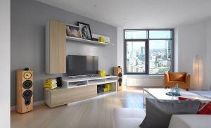 obývací stěna MIRKO - bílá / sonoma