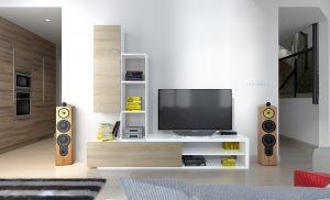 obývací stěna NADIA - bílá / sonoma