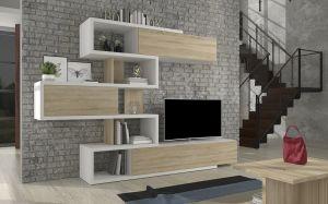 obývací stěna TERENS - bílá / sonoma