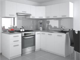Kuchyňská linka Lidia UNIQA 190/170cm - Bílá