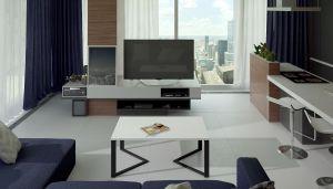 konferenční stolek GAVINO - bílý mat.