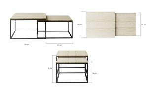 konferenční stolek CLAR - sonoma EL-TAP