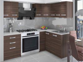 Kuchyňská linka Armin 150/150cm - Kaštan