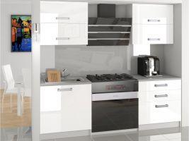 Kuchyňská linka Eleganta 120cm - Bílá - LESK