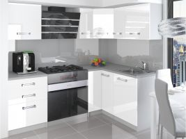 Kuchyňská linka Jowisz 150/150cm - Bílá - LESK