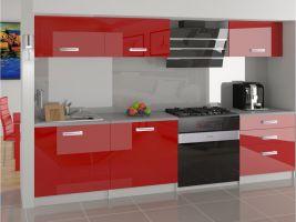 Kuchyňská linka Laurentino 180cm - Červená - LESK