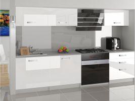 Kuchyňská linka Laurentino 180cm - Bílá - LESK