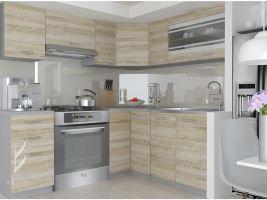 Kuchyňská linka Lidia 190/170cm - Dub Sonoma