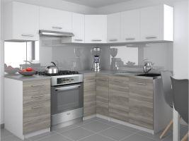 Kuchyňská linka Lidia UNIQA 190/170cm - Bílá/Silver