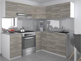 Kuchyňská linka Lidia UNIQA 190/170cm - Silver