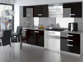 Kuchyňská linka Neptun 180cm - Černá - LESK