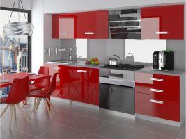 Kuchyňská linka Neptun 180cm - Červená - LESK