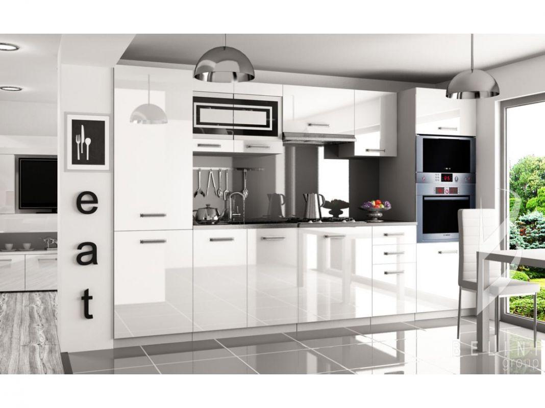 Kuchyňská linka Syntka 300cm - Bílá - LESK BELINI