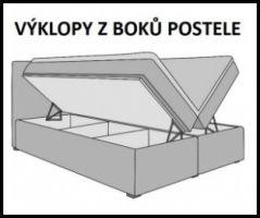 postel boxspring INTER TYP 3 - 160x200cm - úlož. prostor - otevírací KAROL MEBLE
