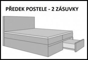 postel boxspring INTER TYP 3 - 160x200cm - úlož. prostor - 2 zásuvky KAROL MEBLE