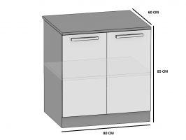 kuchyně BELINI - dolní skříňka 2F - SD/80 - matné dvířka