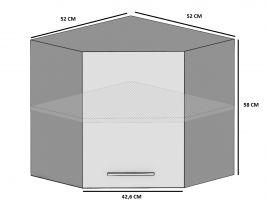 kuchyně BELINI - horní rohová 1F - SGn/60 - matné dvířka