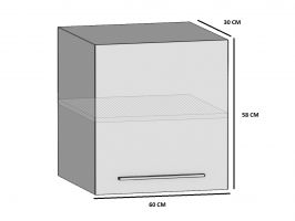 kuchyně BELINI - horní skříňka 1F - SG/60 - matné dvířka