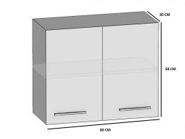 kuchyně BELINI - horní skříňka 2F - SG/80 - lesklé dvířka