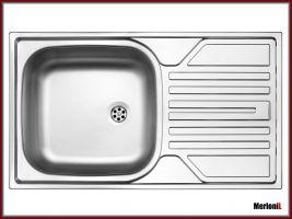 kuchyňský dřez jednokomorový s odkapávačem - Alamo 004