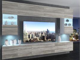 obývací stěna Imperium 1 - bílá/dekor stříbrného dřeva