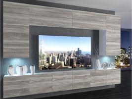 obývací stěna Imperium 2 - bílá/dekor stříbrného dřeva