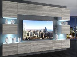 obývací stěna Imperium 3 - bílá/dekor stříbrného dřeva