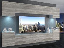 obývací stěna Imperium 4 - bílá/dekor stříbrného dřeva