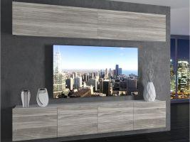 obývací stěna Imperium 6 - bílá/dekor stříbrného dřeva