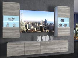 obývací stěna Imperium 7 - bílá/dekor stříbrného dřeva