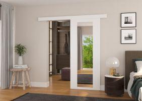 Interiérové posuvné dveře BRIT - Bílá / Zrcadlo - 90cm