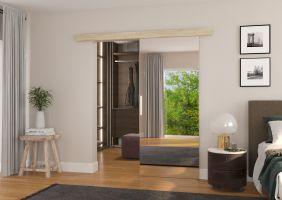 Interiérové posuvné dveře TESS - Dub Sonoma / Zrcadlo - 90cm