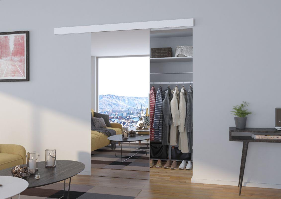 Interiérové posuvné dveře BARON - Bílá / Zrcadlo - 80cm ADRK