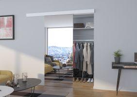 Interiérové posuvné dveře  BARON - Bílá / Zrcadlo - 100cm