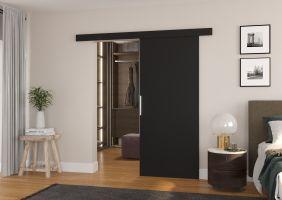 Interiérové posuvné dveře DAAN - Černá barva - 80cm