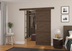 Interiérové posuvné dveře DAAN - Choco barva - 80cm
