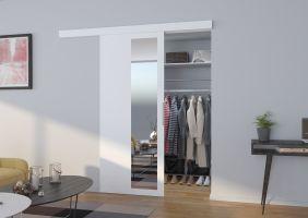 Interiérové posuvné dveře  MALTA  - Bílá / Zrcadlo - 80cm
