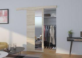 Interiérové posuvné dveře  MALTA  - Dub Sonoma / Zrcadlo - 80cm