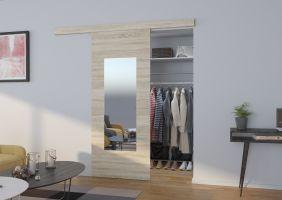 Interiérové posuvné dveře  NELA - Dub Sonoma / Zrcadlo - 80cm