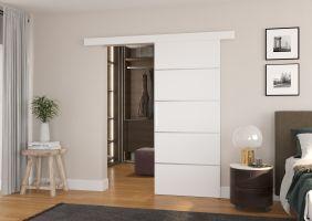 Interiérové posuvné dveře TONY  - Bílá barva - 80cm