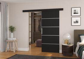 Interiérové posuvné dveře TONY  - Černá barva - 80cm