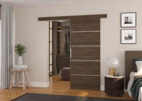 Interiérové posuvné dveře TONY  - Choco barva - 80cm