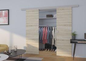 Interiérové posuvné dveře TOPPO - Jasan tmavý - 140cm ADRK