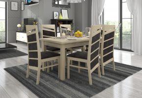 jídelní sestava RODOS 12 - 1 stůl + 6 židlí - Sonoma