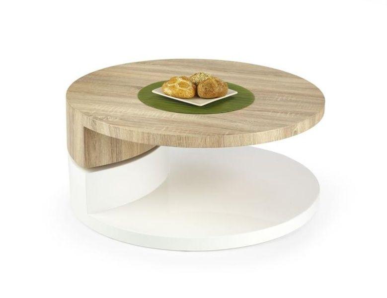 Halmar Konferenční stůl Madeleine barva dub sonoma/bílá