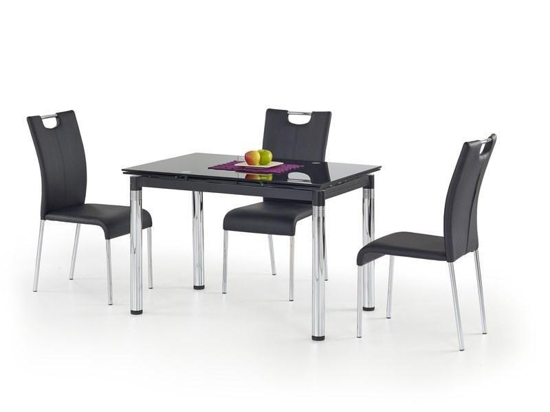 Halmar Skleněný jídelní rozkládací stůl L-31 barva černá