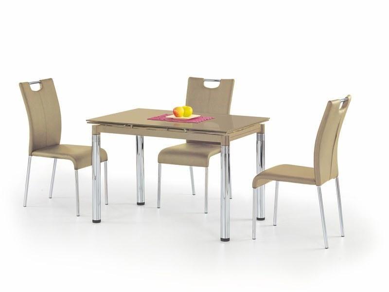 Skleněný jídelní rozkládací stůl L-31 barva Béžová