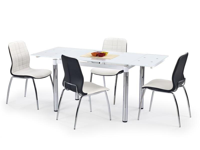 Skleněný jídelní rozkládací stůl L-31 barva bílá