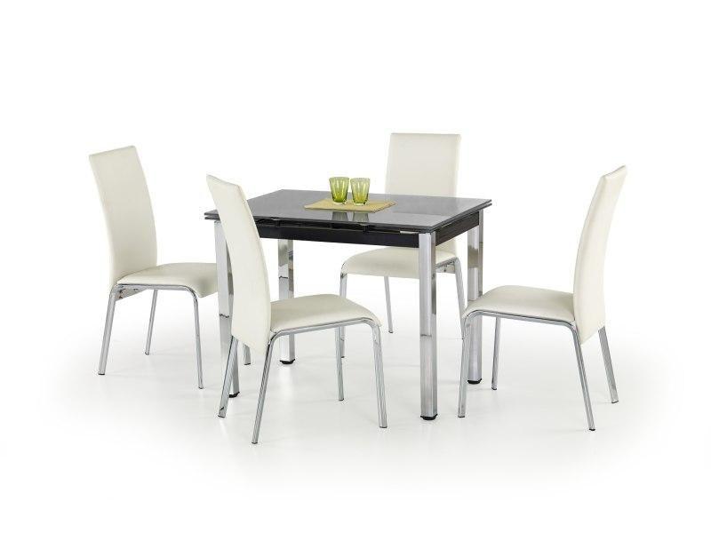 Halmar Skleněný jídelní rozkládací stůl Logan barva černá